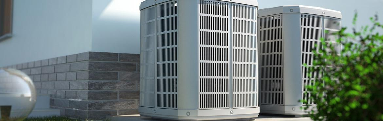 pompy ciepła, urządzenia zamontowane na dworze
